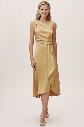 Anthropologie Alston Dress By in Gold Size 14