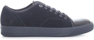 Lanvin Suede And Patent Captoe Low Top Sneaker