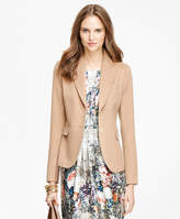 Brooks Brothers Petite Camel Hair Two-Button Jacket