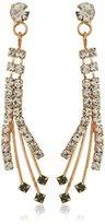 Betsey Johnson Angels & Wings Crystal Spray Linear Drop Earrings