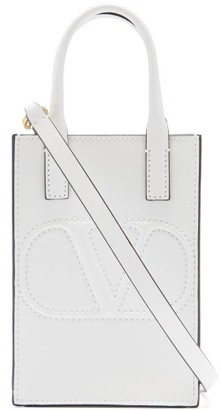 Valentino V-logo Mini Leather Cross-body Bag - White