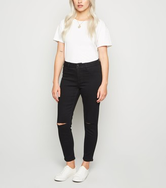 New Look Petite Ripped Skinny Jenna Jeans