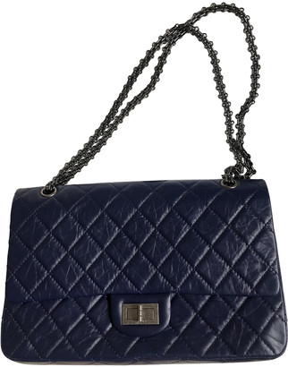 Chanel 2.55 Navy Leather Handbags