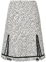 Giambattista Valli tweed lace-trim skirt