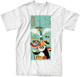 Novelty T-Shirts Kung Fu Panda Short-Sleeve Cotton T-Shirt