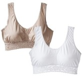 Playtex Women's 2-Pack Cozy Comfort Wirefree Bras X587 - Assorted Colors