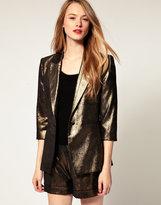 Metallic Tailored Blazer