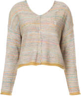 Raquel Allegra space-dye v-neck sweater