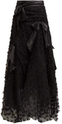 Rodarte Satin Bow Handkerchief Hem Tulle Skirt - Womens - Black