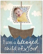 Child of God and Boats Canvas Wall Art