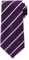 Charvet Striped Silk Tie, Purple/Blue