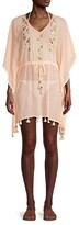 Thumbnail for your product : Letarte Tie-Waist Embroidered Coverup Dress