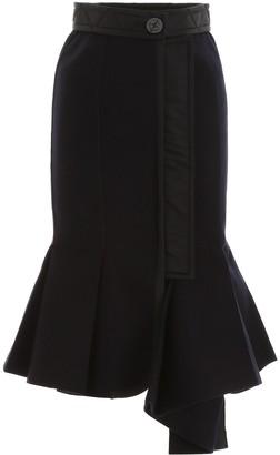 Sacai Flared Hem Skirt