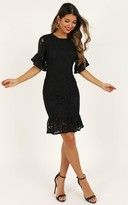 Showpo Cant Go Back Dress in black lace - 4 (XXS) Dresses