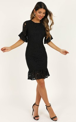 Showpo Cant Go Back Dress in black lace - 4 (XXS) Dresses