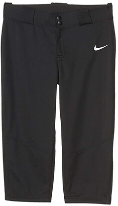 Nike Kids Core Softball Pants (Big Kids) (Black/Team White) Girl's Casual Pants