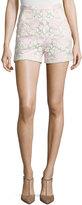 Giambattista Valli High-Waist Lace Shorts, Pink/White