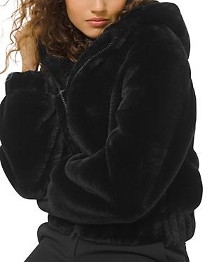 MICHAEL Michael Kors Hooded Reversible Faux-Fur Jacket