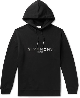 Givenchy Logo-Appliqued Loopback Cotton-Jersey Hoodie