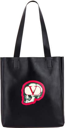Valentino Skull Tote Bag in Black | FWRD