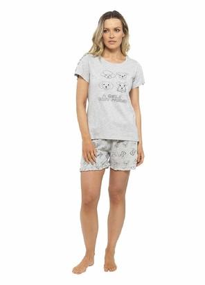 Fox Bury Ladies Dog or Cat Print Shorts/Shortie Pyjama Set (XL