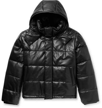 McQ Quilted Leather Hooded Jacket