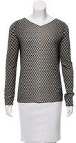 Akris Chevron Wool Sweater