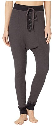 Hard Tail Thermal Harem Pants (Raven) Women's Casual Pants