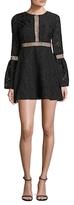Zac Posen Zarya Cotton Embroidered Mini Dress
