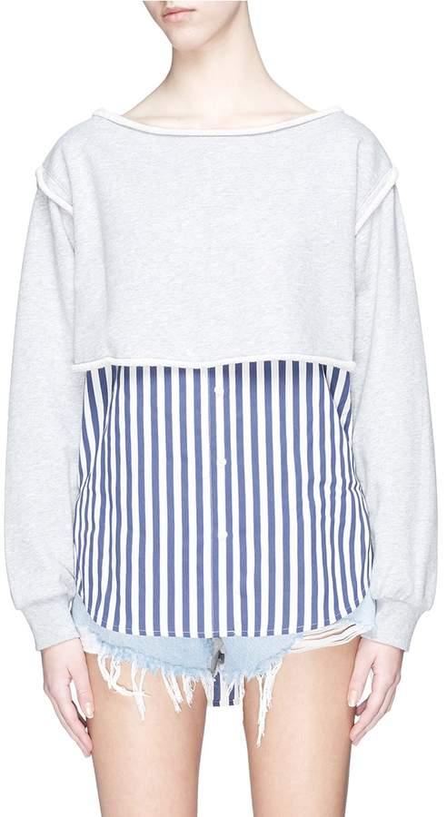 Alexander Wang Stripe shirt-tail panel sweatshirt