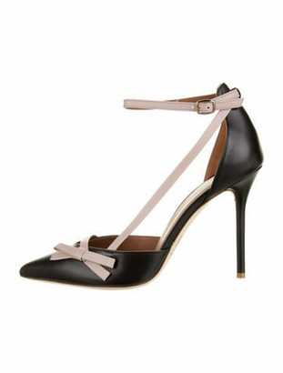 Malone Souliers Josie Leather D'Orsay Pumps w/ Tags Black