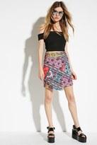 Forever 21 FOREVER 21+ Jaded London Festival Neoprene Asymmetric Skirt