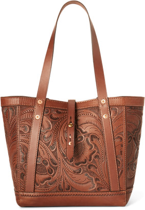 Ralph Lauren Hand-Tooled Leather Tote