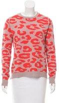 A.L.C. Wool Leopard Printed Sweater