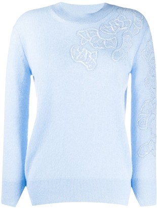 Ermanno Scervino Cashmere Floral Patterned Jumper