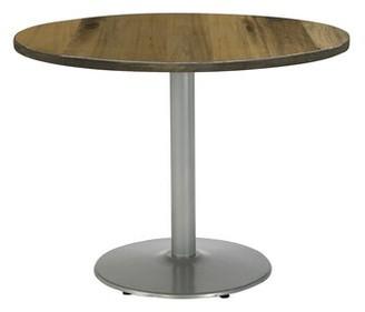 "KFI Studios Urban Loft Round Multipurpose Table Top Finish: Natural, Size: 29"" H x 30"" W x 30"" D, Base Finish: Silver"