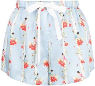Morgan Lane Martine floral-print silk shorts