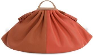 THE VOLON Gabi Leather Clutch