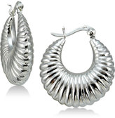 Giani Bernini Textured Hoop Earrings in Sterling Silver, Created for Macy's