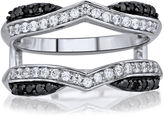 Black Diamond MODERN BRIDE 5/8 CT. T.W. White & Color-Enhanced Chevron Ring Wrap