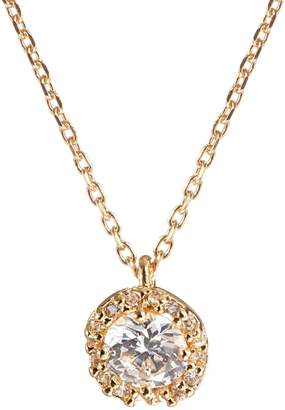 Kate Spade Pave Crystal Round Pendant Necklace