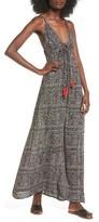 Angie Women's Fringe Tie Maxi Dress