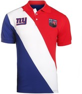Unbranded Men's Royal/Red New York Giants Diagonal Stripe Rugby Polo