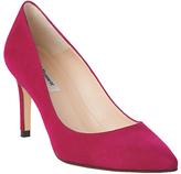 LK Bennett Floret Pointed Court Shoes, Pink Suede