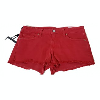 Blauer Red Cotton - elasthane Shorts for Women