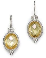 Judith Ripka Oval Stone Earrings