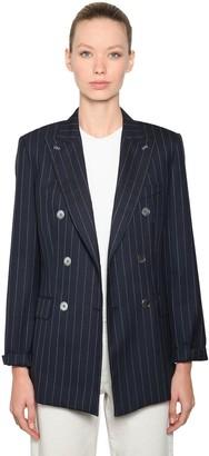 Max Mara Cool Wool Pinstripe Blazer