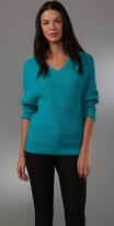 Halston Heritage Oversized V Neck Sweater
