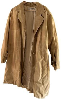 Guy Laroche Camel Leather Coats