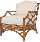 David Francis Furniture Chippendale Accent Chair - Camel Brown